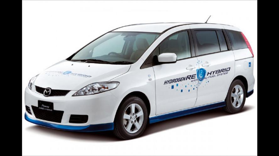 Benzin und Wasserstoff: Hybrid-Wankel für den Mazda 5