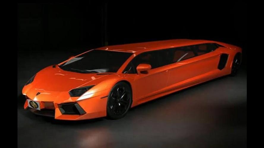 Lamborghini Aventador Limousine...hein?