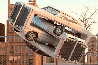Artist Depicts Fantastically Warped Pontiacs in