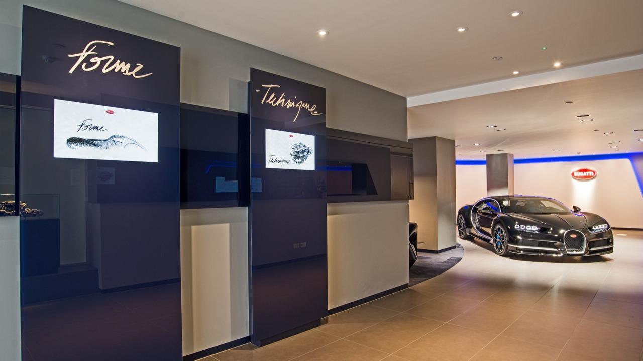 Bugatti UK showroom