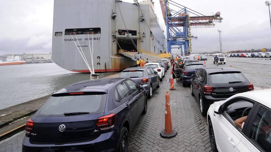 VW Polo e Virtus começam a ser exportados para o Uruguai