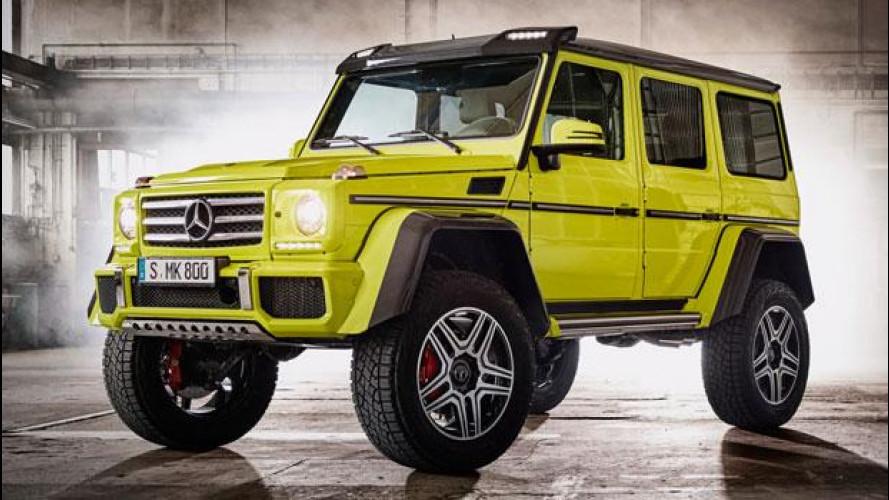 Mercedes G 500 4x4², integrale al quadrato
