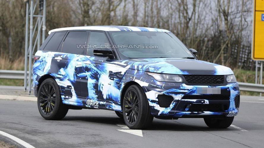 2015 Range Sport RS drops its camouflage for a blue & white body wrap