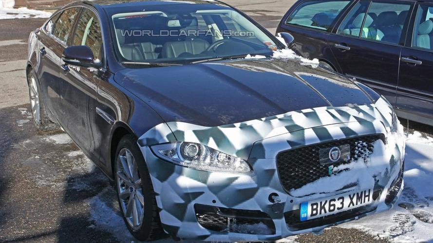 Jaguar XJ facelift spied up close with modest changes