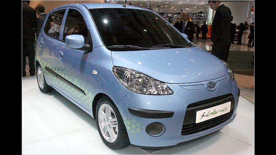 Hyundai i10 blue CNG emittiert nur 65 Gramm CO2