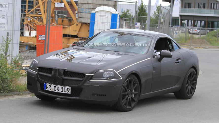 2012 Mercedes Benz SLK 63 AMG spied for first time