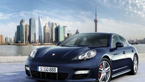 Porsche Panamera Turbo with Shanghai skyline