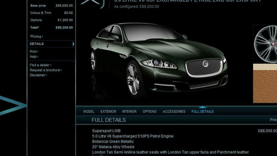 2010 Jaguar XJ Configurator Launched