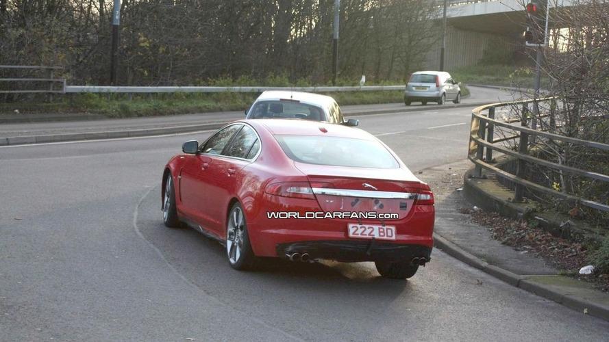 Jaguar XF-R Spied in Red