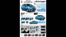 Vaza catálogo com todos os detalhes do novo Mitsubishi Attrage