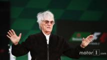 Bernie Ecclestone, lors de l'annonce du partenariat avec Heineken