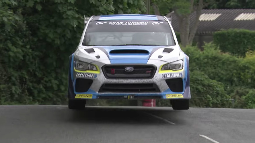Lapping the Isle of Man in a Subaru STI looks terrifying