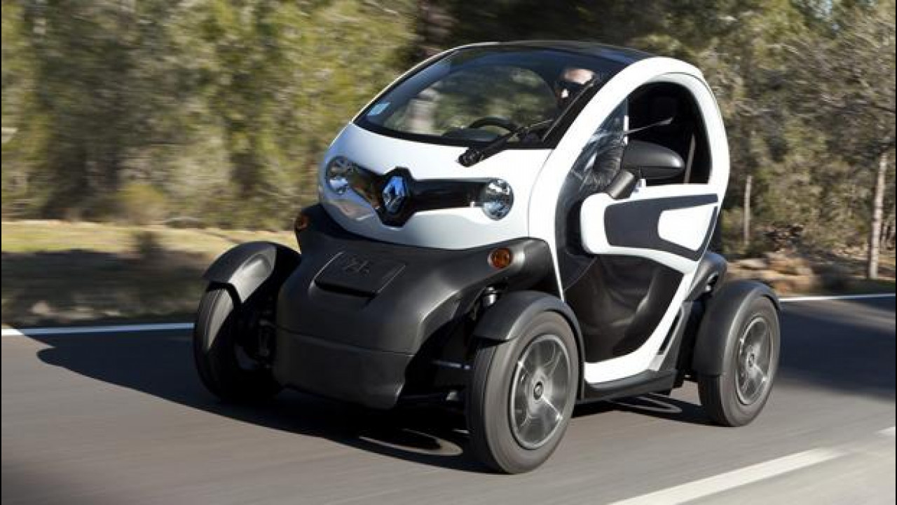 Cross-country skiing = Renault Twizy
