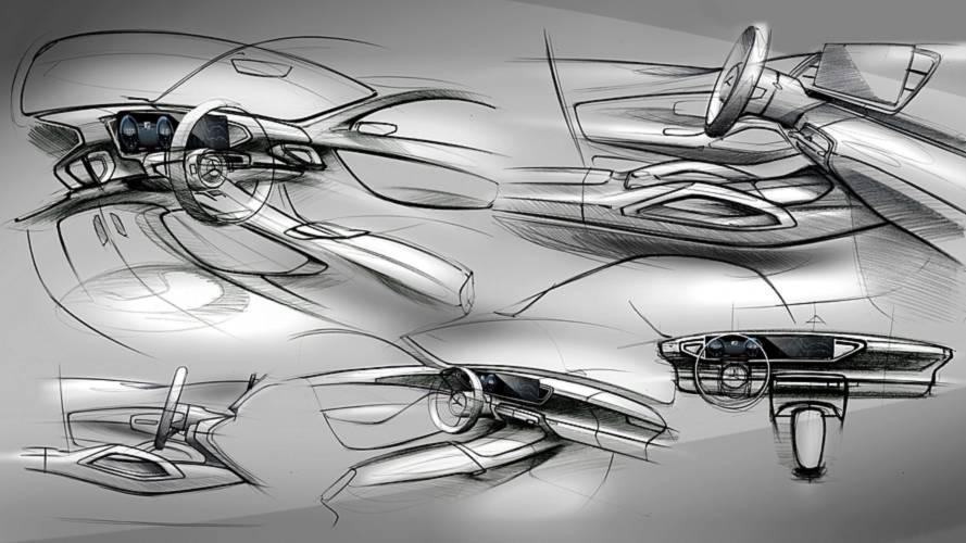 Nuova Mercedes GLE, i bozzetti dell'abitacolo