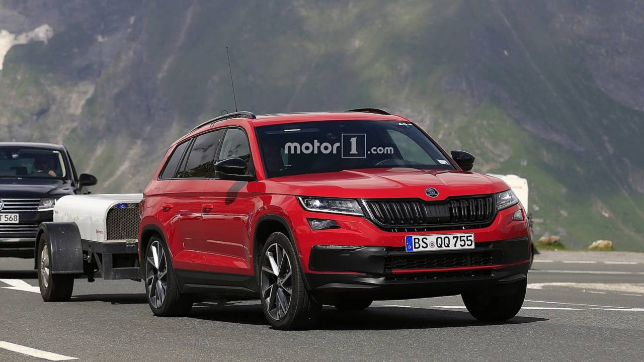 2019 Skoda Kodiaq RS spy photo