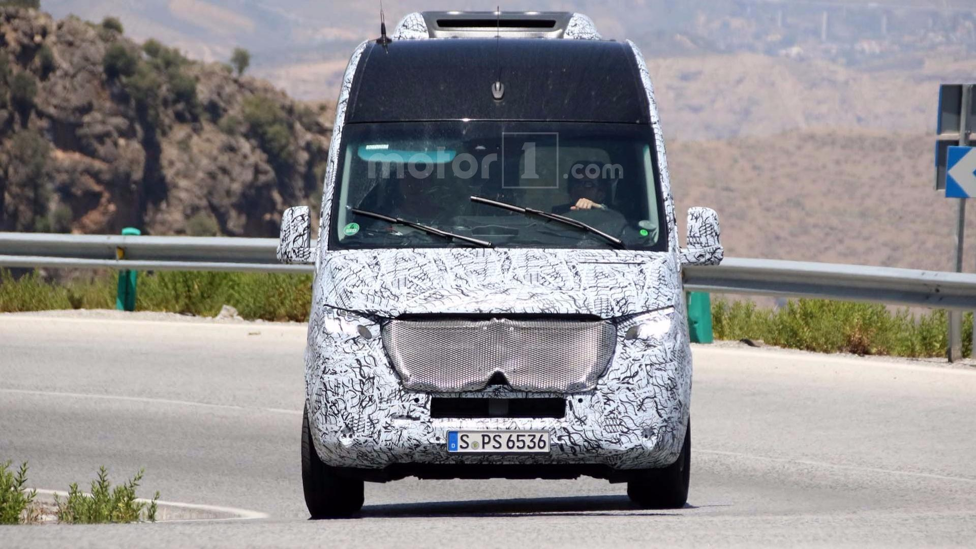 2019 Mercedes Sprinter Caught Testing On Twisty Roads
