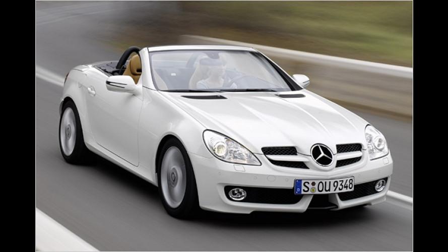 Mercedes SLK: Aufgefrischt und sparsamer für 2008