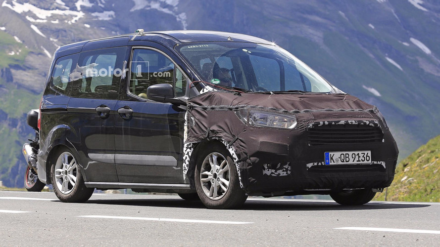 Ford Tourneo Courier Facelift Spied With Even More Camo