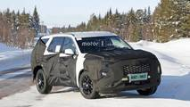 Three-row Hyundai large SUV spy photo