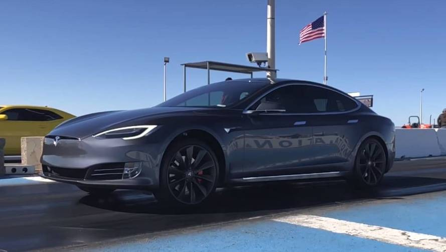 Check Out This Slo-Mo Launch Of Tesla Model S P100D