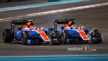 Pascal Wehrlein, Manor Racing MRT05, Esteban Ocon, Manor Racing MRT05