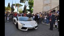 La Lamborghini Aventador al Campidoglio
