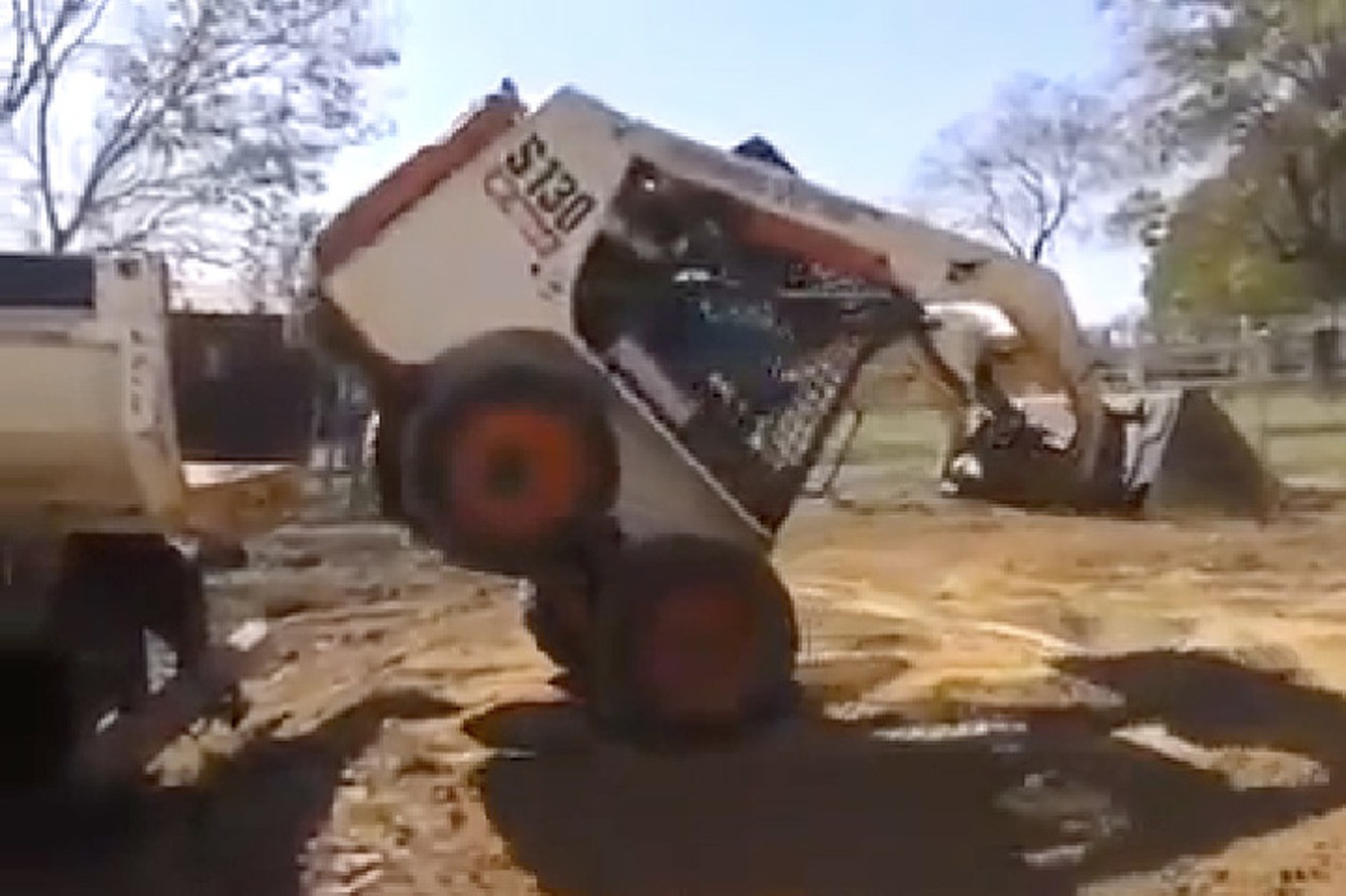 Watch this Guy Load a Bobcat like a Boss