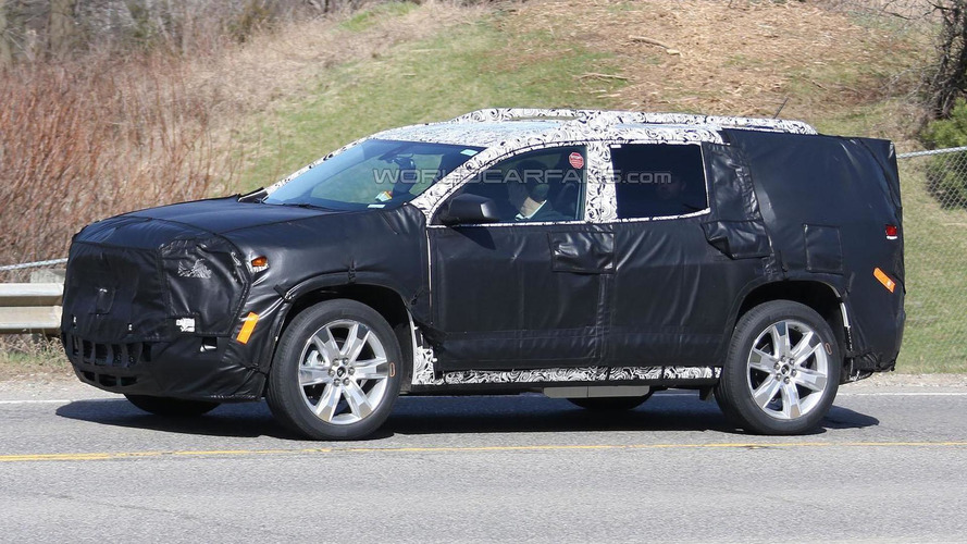 2017 GMC Acadia spied for the first time
