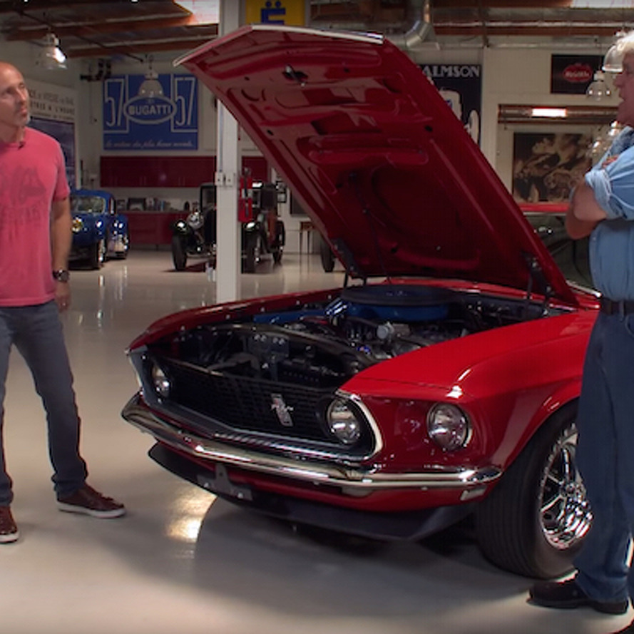 Jay Leno Drives a Mustang Boss 429 for the First Time