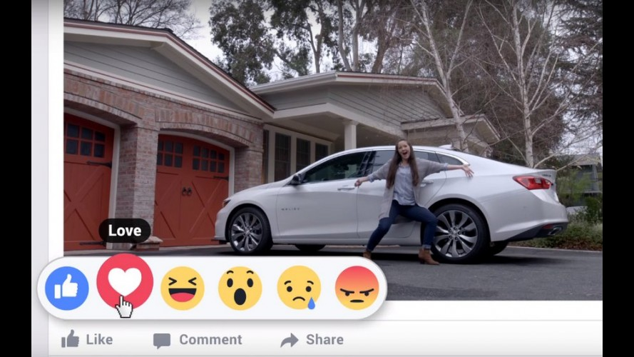 Chevrolet aproveita as novas reações do Facebook e pede para