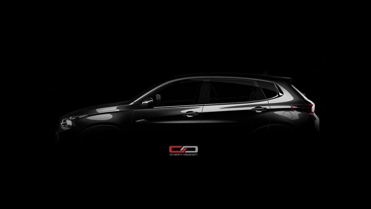 Inédito SUV de topo, Chery Tiggo 7 aparece em primeiro teaser