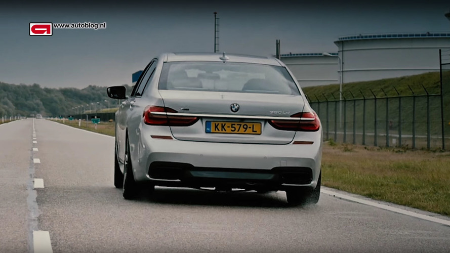 Watch BMW 750Ld xDrive run through the gears at full throttle