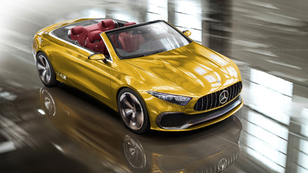 Mercedes Concept A Sedan Loses Roof, Rear Doors In Colorful Renders