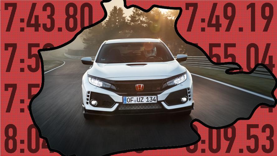 El Honda Civic Type R 'machaca' a estos 10 coches en Nürburgring