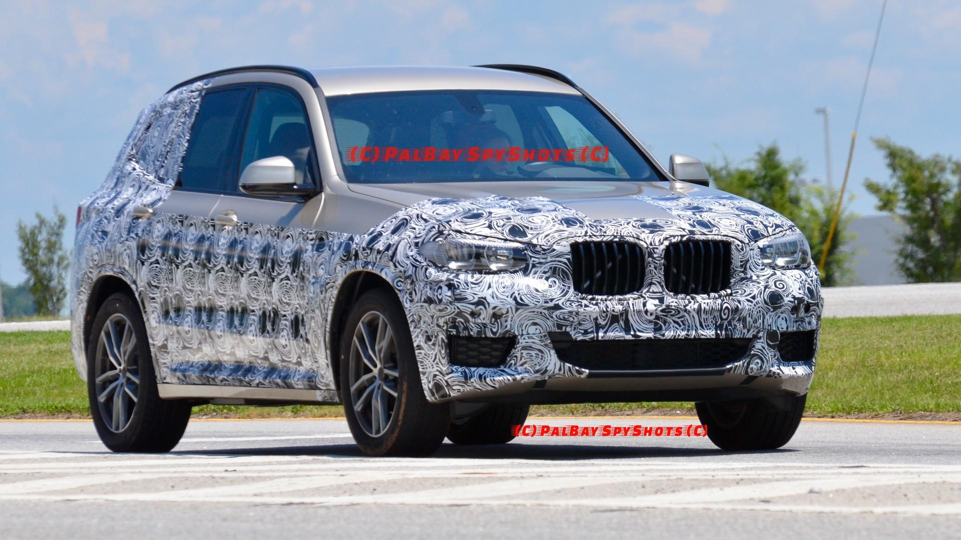new bmw x3 spied possibly one last time in united states. Black Bedroom Furniture Sets. Home Design Ideas