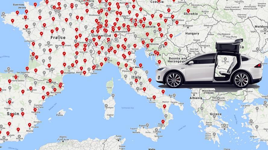 Tesla, ecco i nuovi Supercharger italiani
