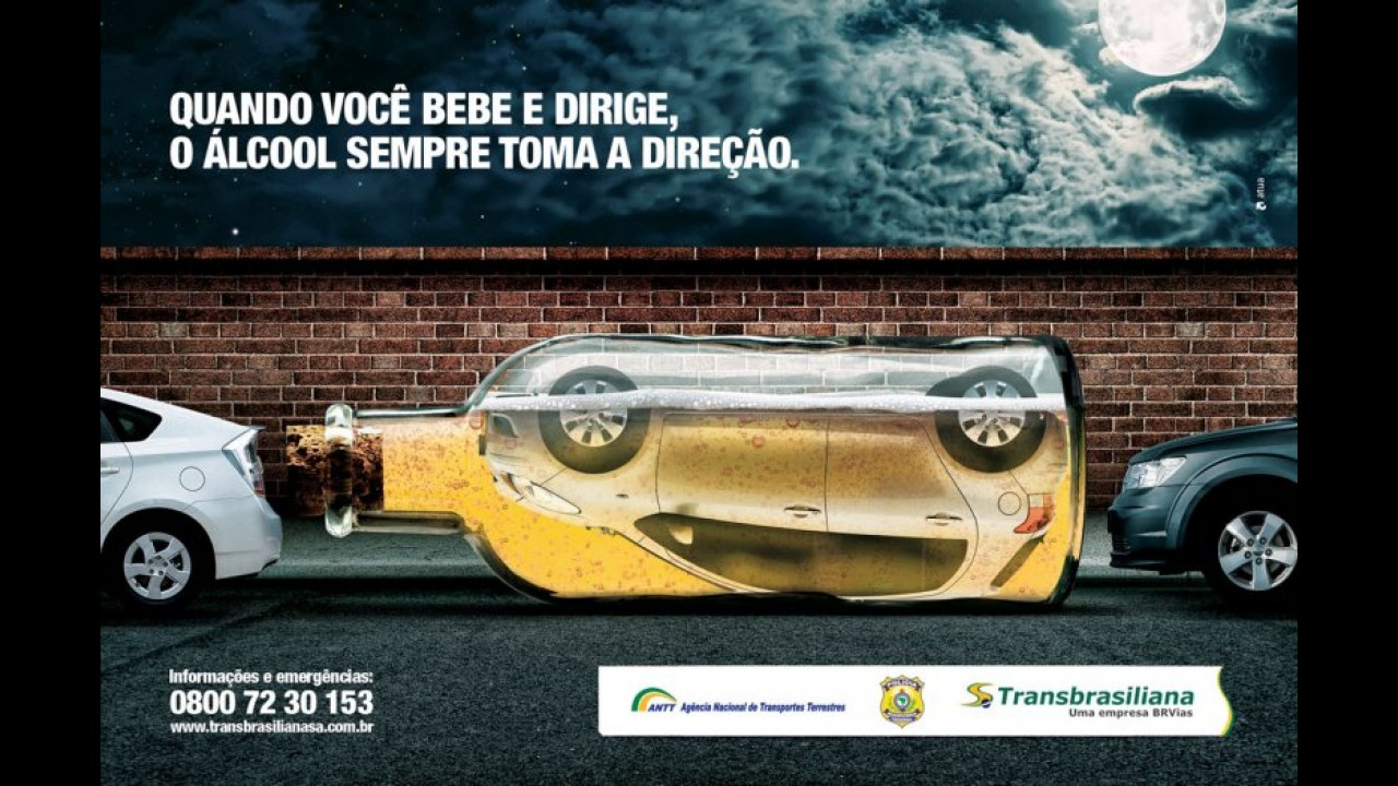 Galeria: beber e dirigir causa 26% mais mortes no Reino Unido; veja campanhas contra a prática
