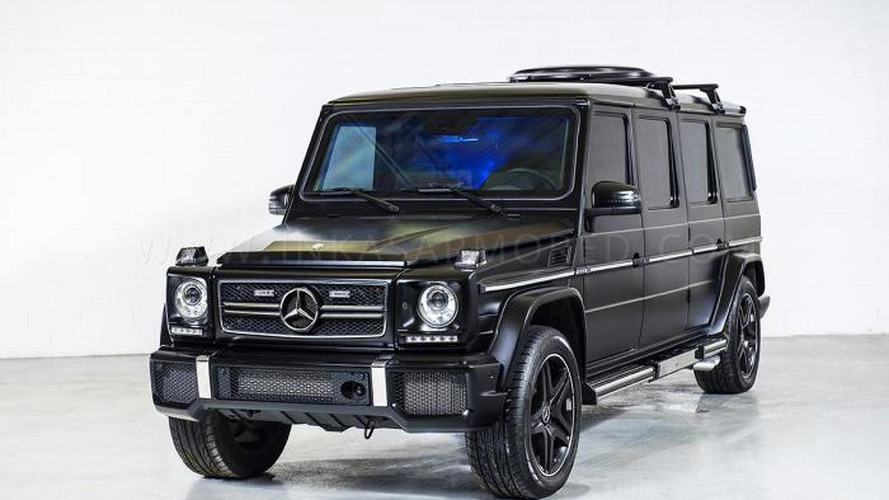 Inkas reveals $1 million armored and stretched Mercedes-Benz G63 AMG with built-in gun holder