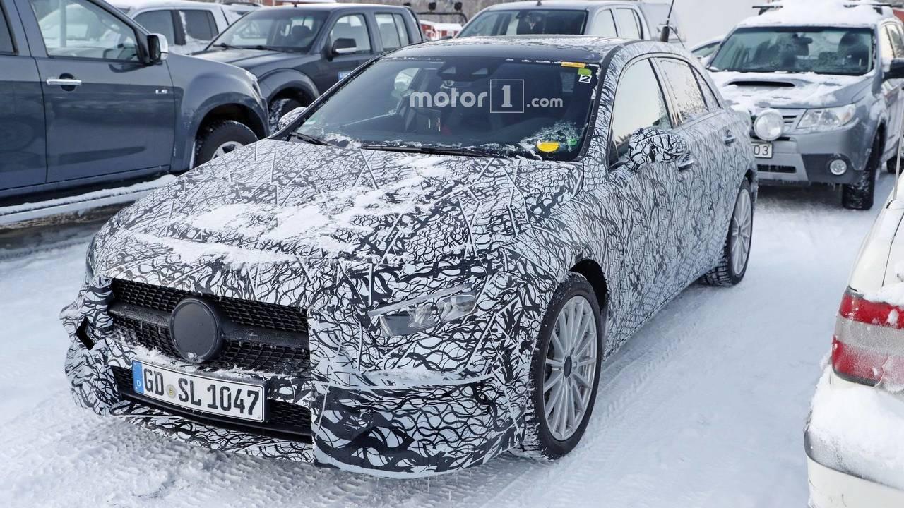 Mercedes A-Class plug-in hybrid spy photo