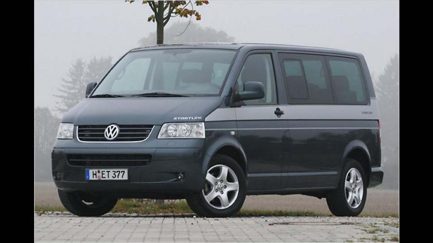 Einsteiger VW Multivan Startline: Billig Bus fahren