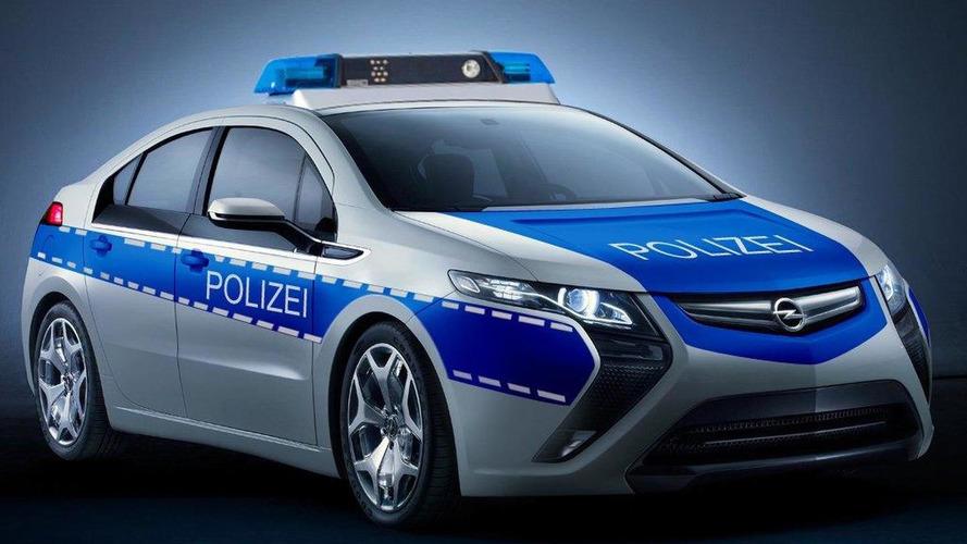 Opel Ampera readies for duty in police blue