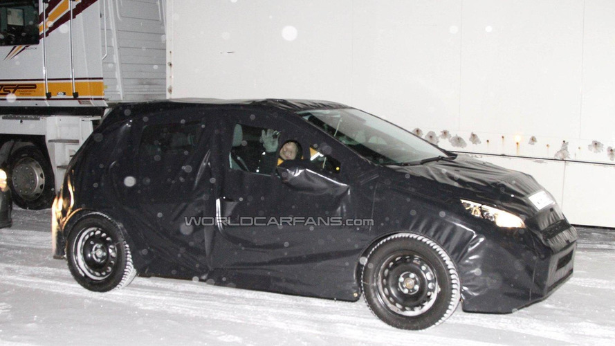 Next-generation 2012 Peugeot 208 spied