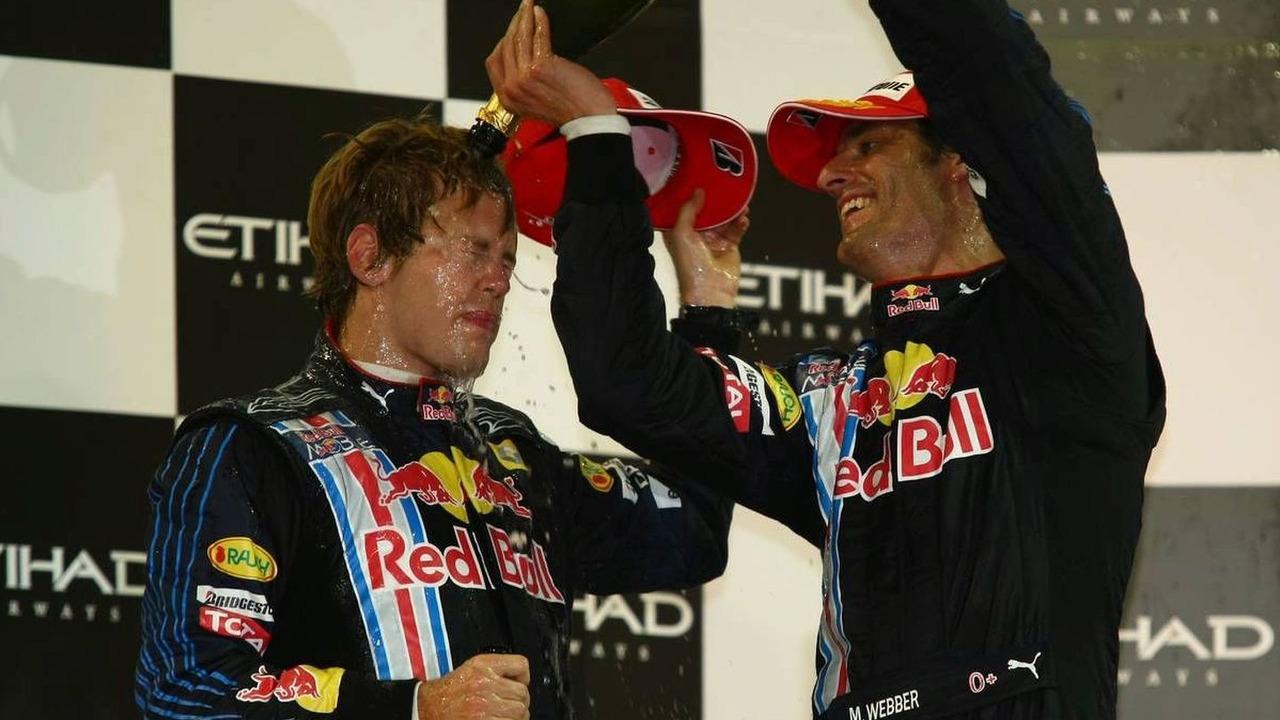 1st place Sebastian Vettel (GER), Mark Webber (AUS), Red Bull Racing, Abu Dhabi Grand Prix, 01.11.2009, Abu Dhabi, United Arab Emirates