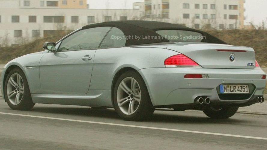 BMW M6 Convertible Spy Photos