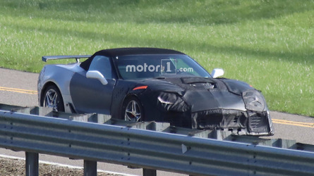 Chevrolet Corvette ZR1 Convertible Spied Ready To Go Topless
