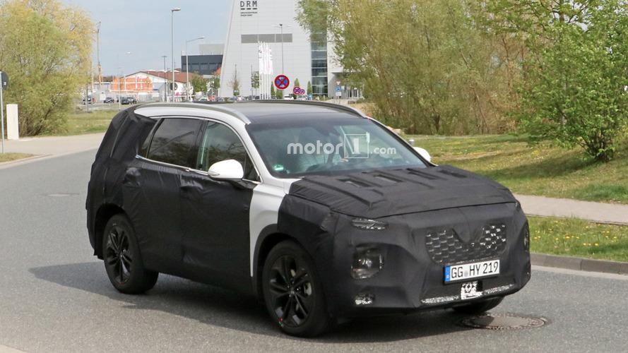 Flagra - Hyundai Santa Fe de nova geração começa a perder camuflagem
