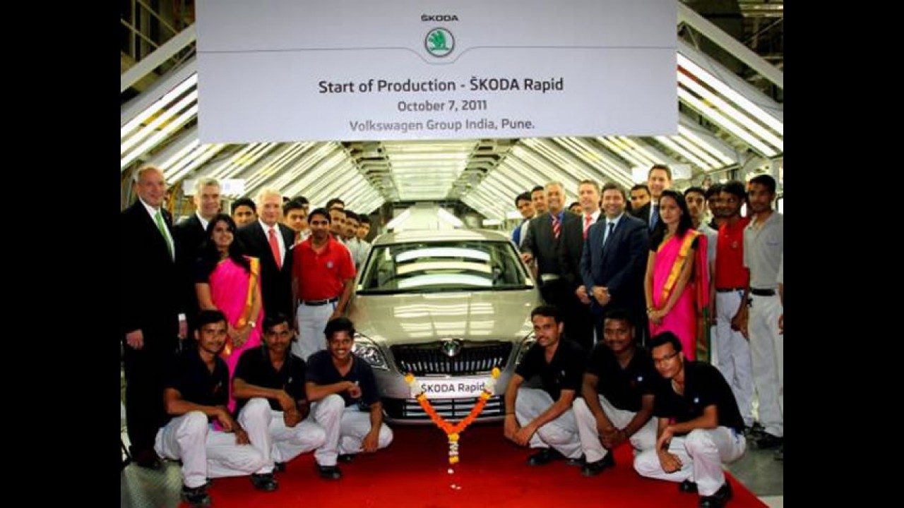 Skoda Rapid será lançado dia 16 de novembro na Índia