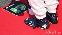 Felipe Massa (BRA) Williams, gridde ulusal marşı dinliyor