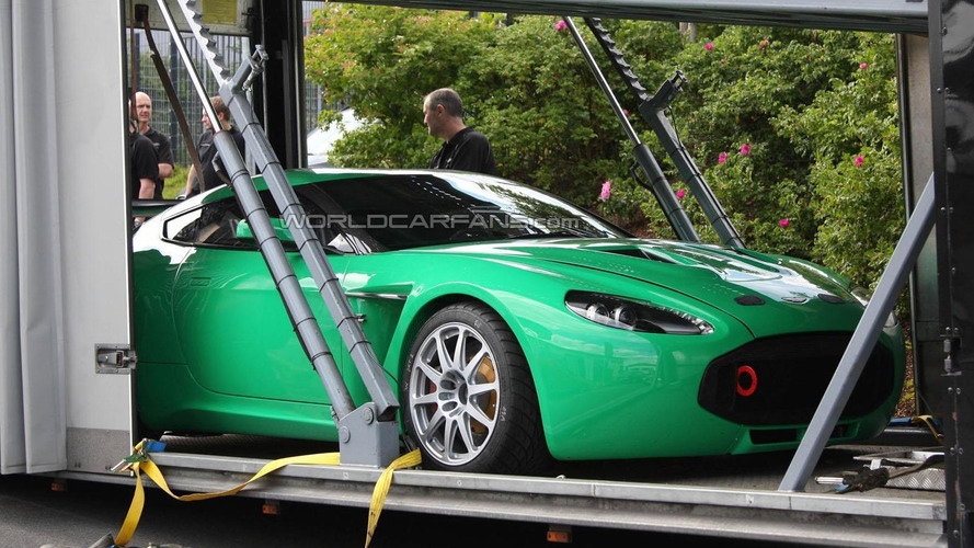 Aston Martin V12 Zagato racer arrives at the Nürburgring [spy photos]
