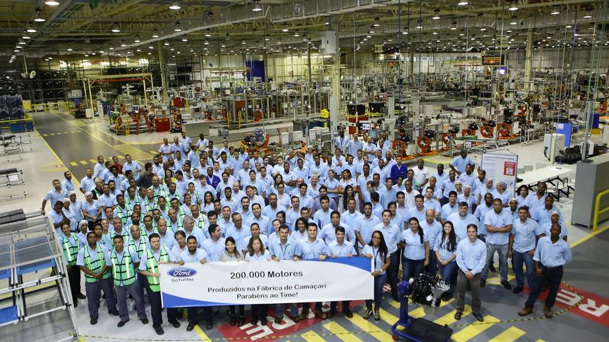 Ford comemora produção de 200 mil motores na fábrica de Camaçari (BA)